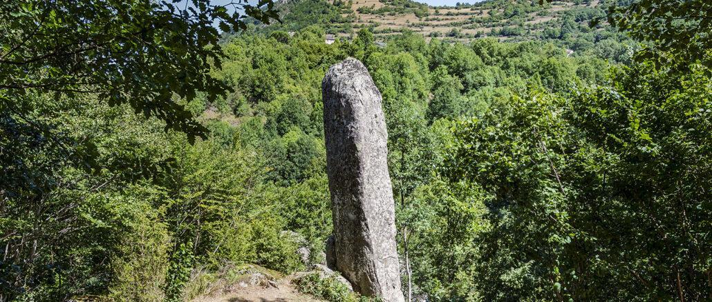 Der Menhir von Counozouls. Foto: Hilke Maunder