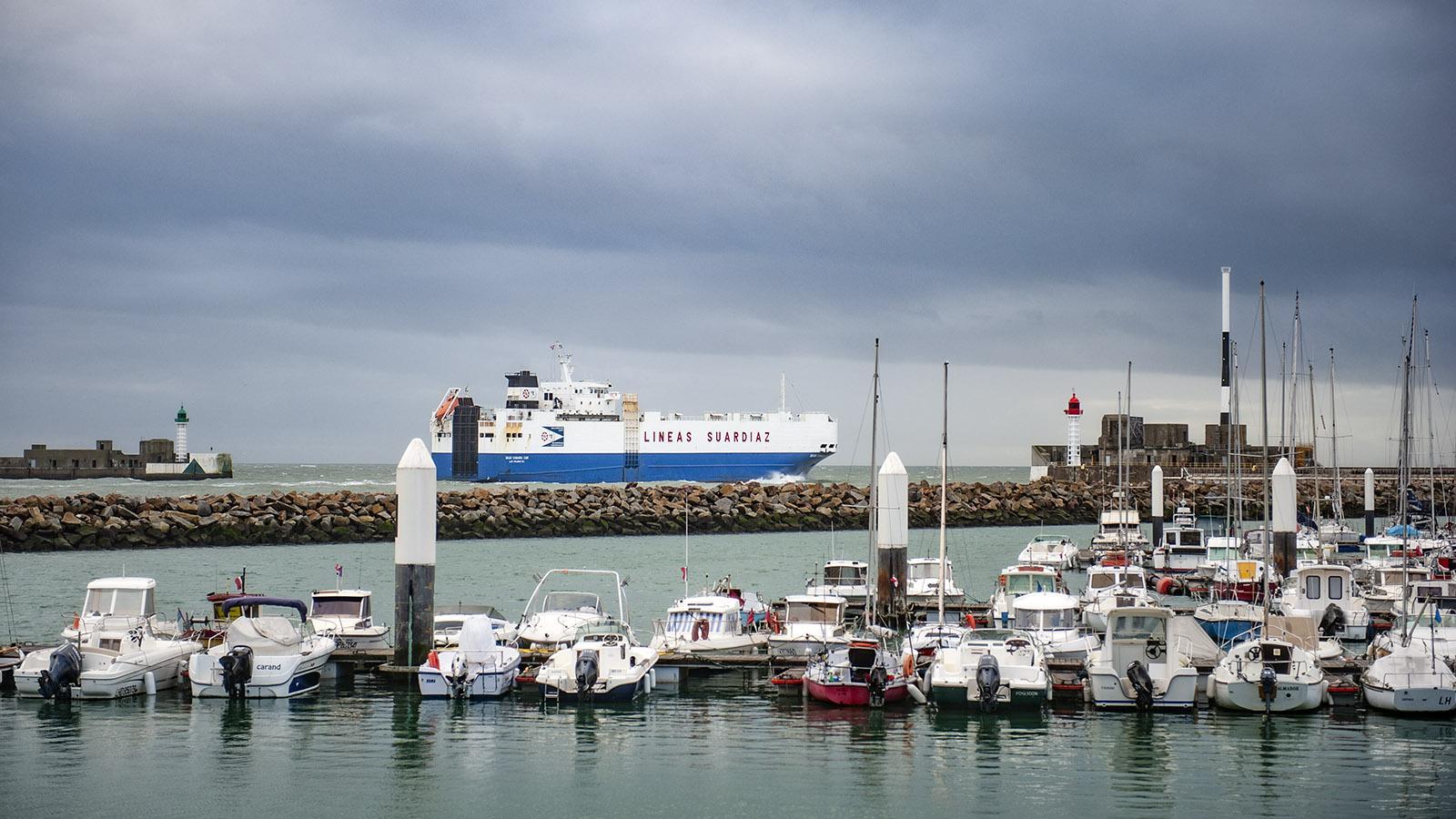 Die Hafeneinfahrt von Le Havre. Foto: Hilke Maunder