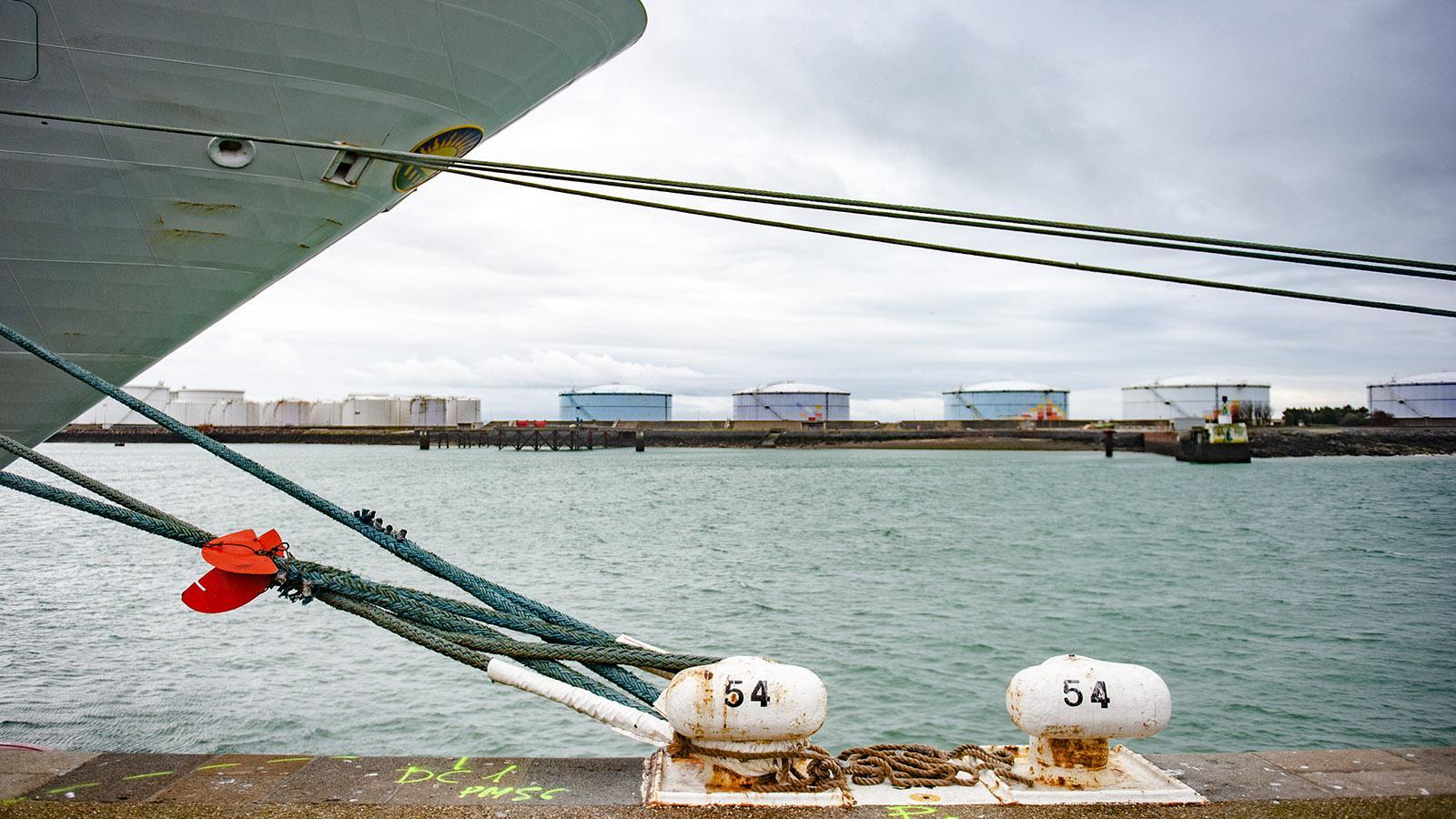 Le Havre ist ein wichtiger Petroleumhafen. Foto: Hilke Maunder