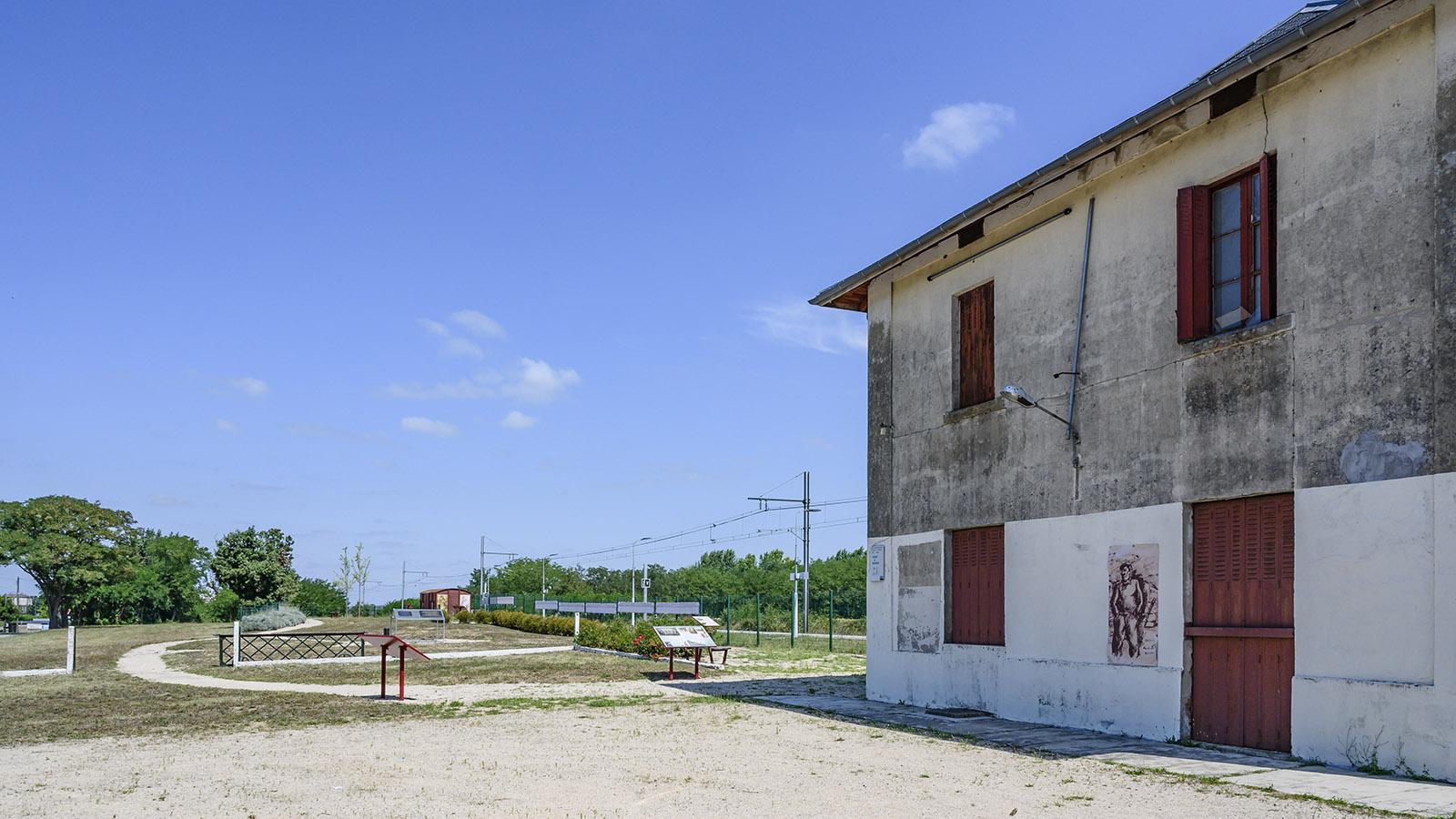 Die Gedenkstätte am Bahnhof. Foto: Hilke Maunder