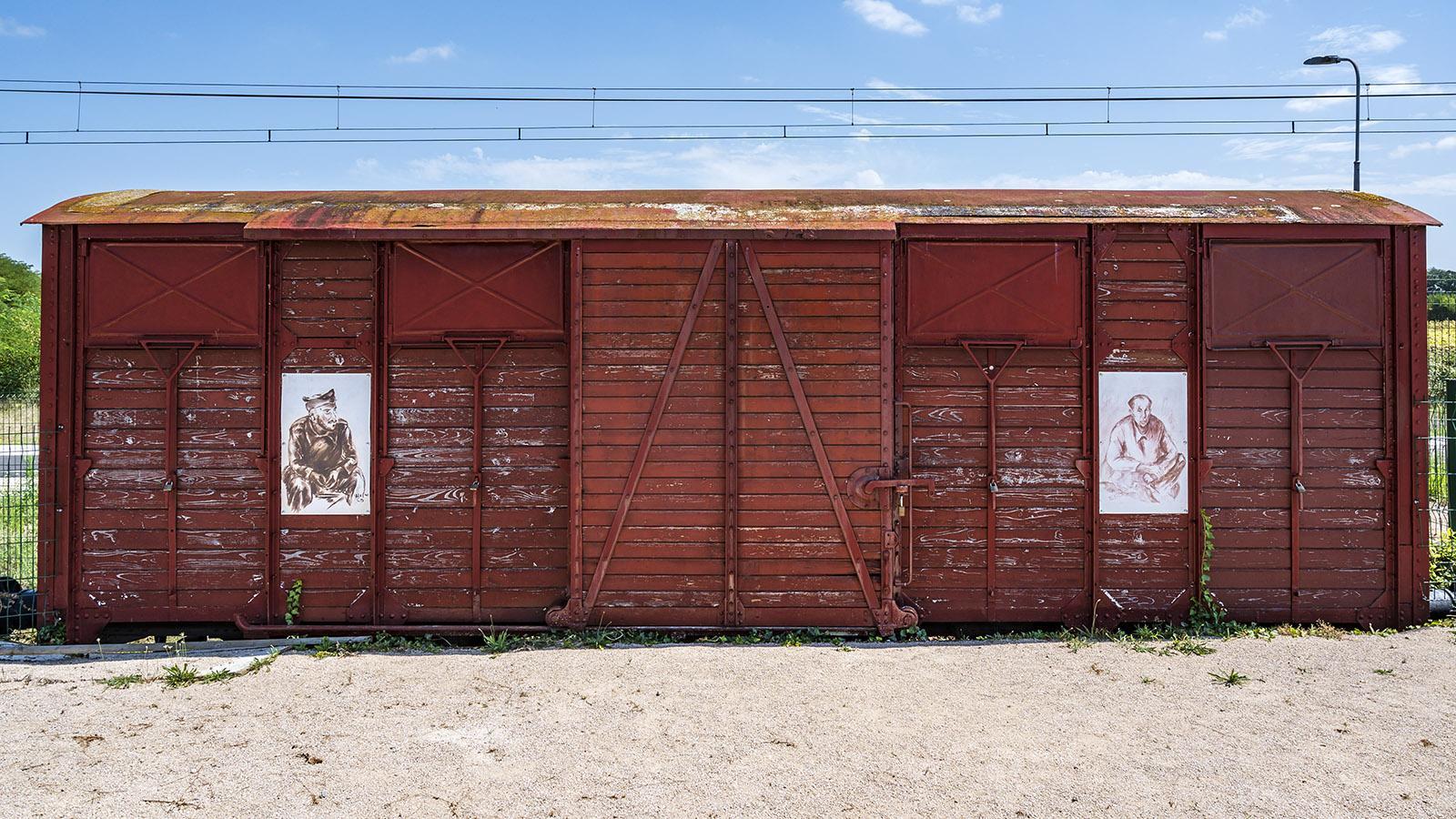 In solchen Waggons wurden die Menschen verfrachtet - in weitere Konzentrationslager und auch nach Auschwitz. Foto: Hilke Maunder