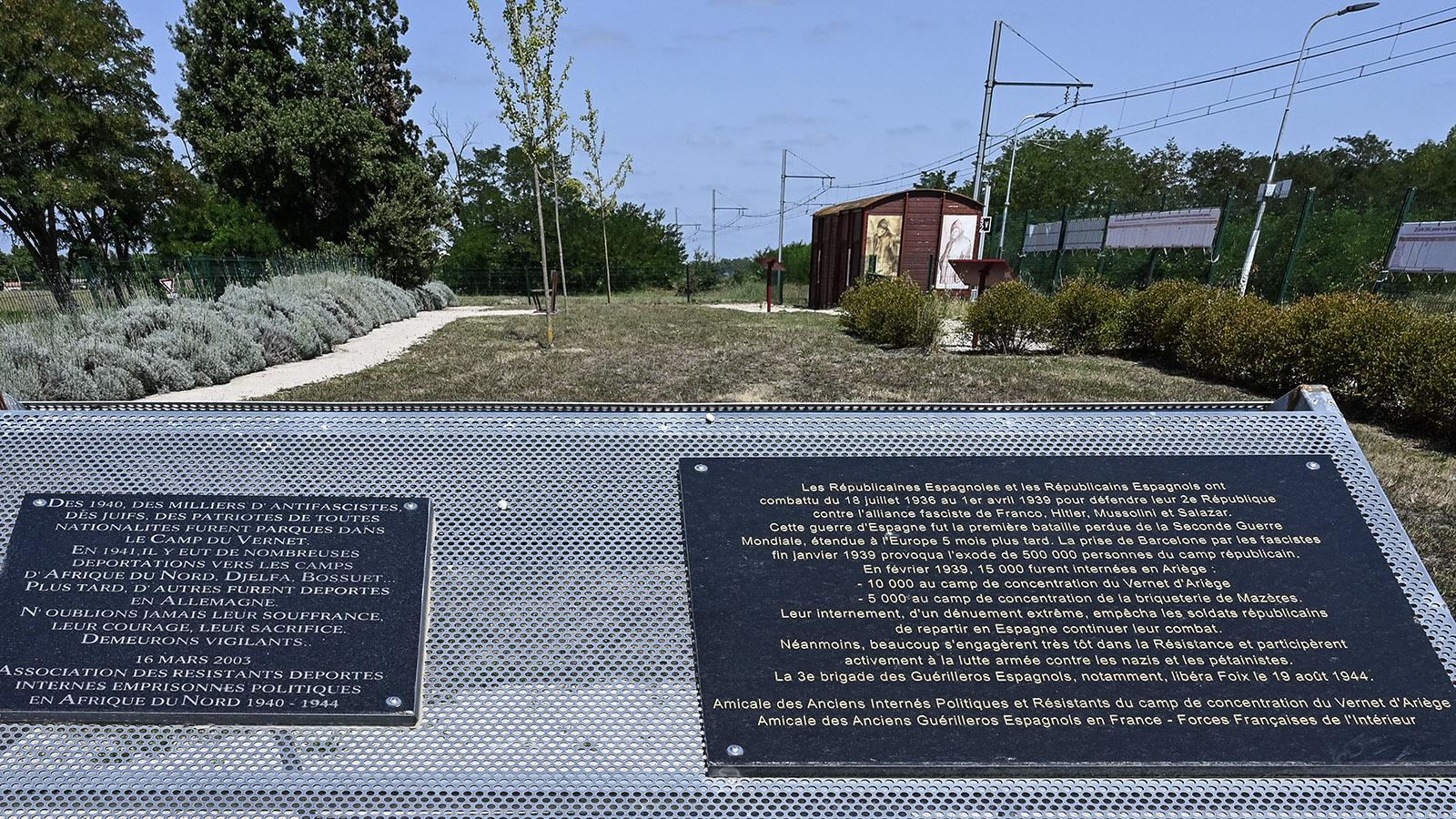 Die Gedenktafeln für die republikanischen Kämpfer im spanischen Bürgerkrieg. Foto: Hilke Maunder