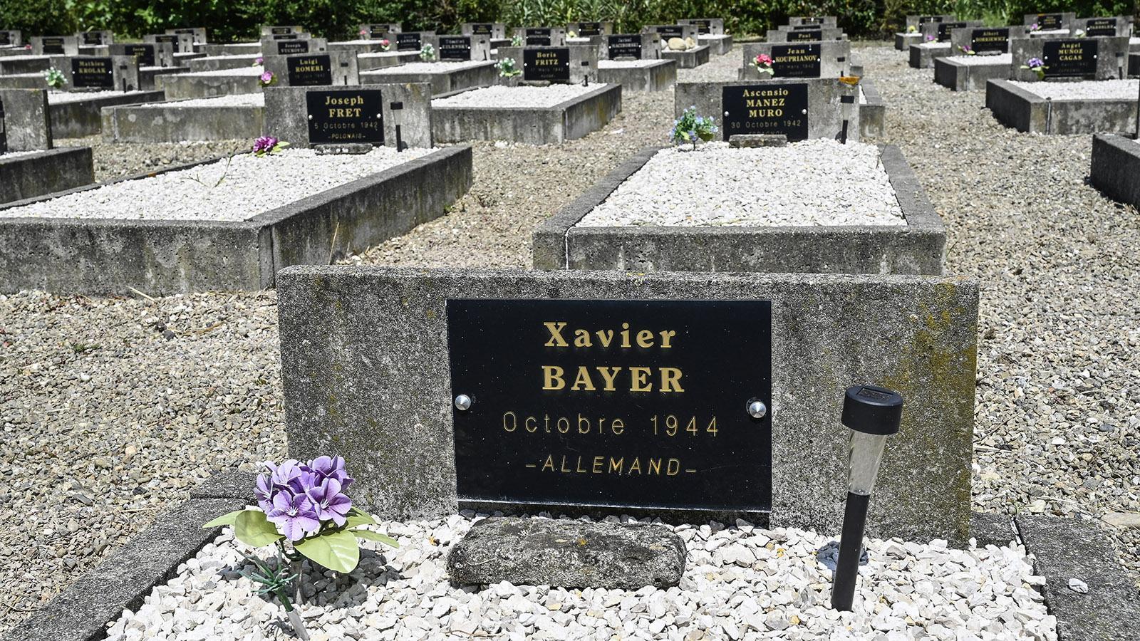 Xavier Bayerverstarb kurz vor der ersten Schließung vom Camp du Vernet dort im Oktober 1944. Foto: Hilke Maunder
