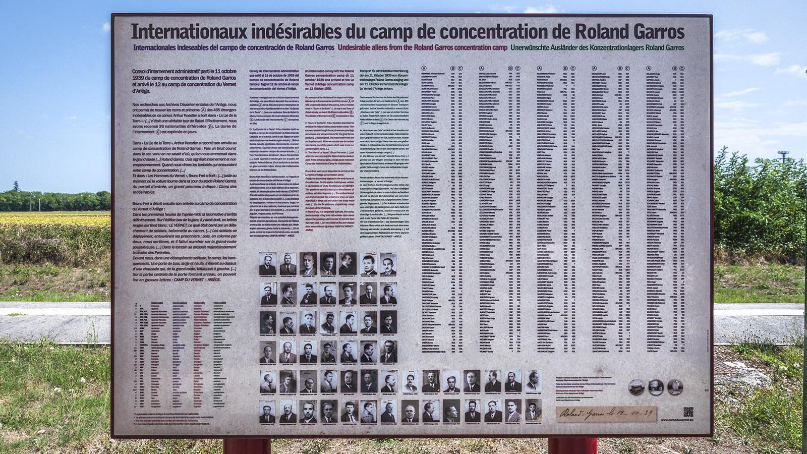 Die unerwünschten Ausländer des KZ <em>Stade Roland Garros</em>. Foto: Hilke Maunder