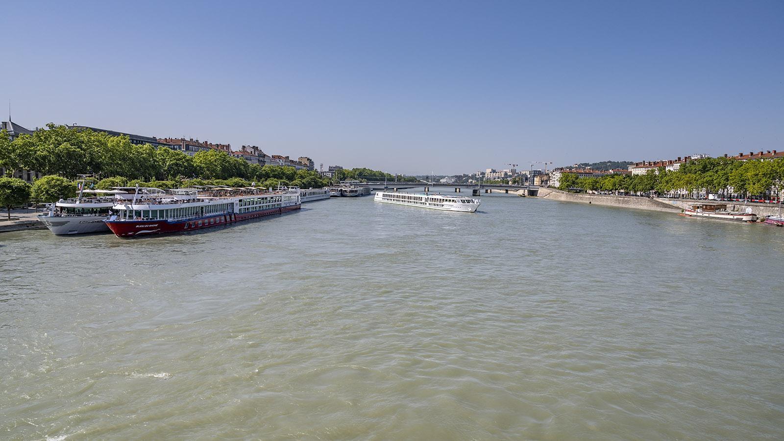 Der Anleger der Kreuzfahrtschiffe in Lyon. Foto: Hilke Maunder