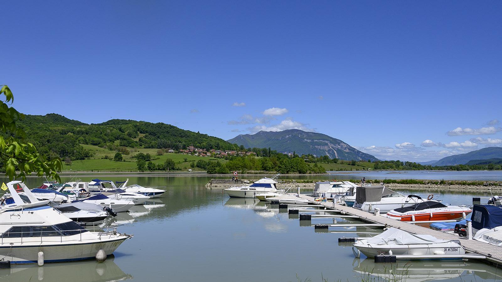Der Hafen von Massignieu-de-Rives, auch genannt <em>Lit du Roi</em>,. Foto: Hilke Maunder