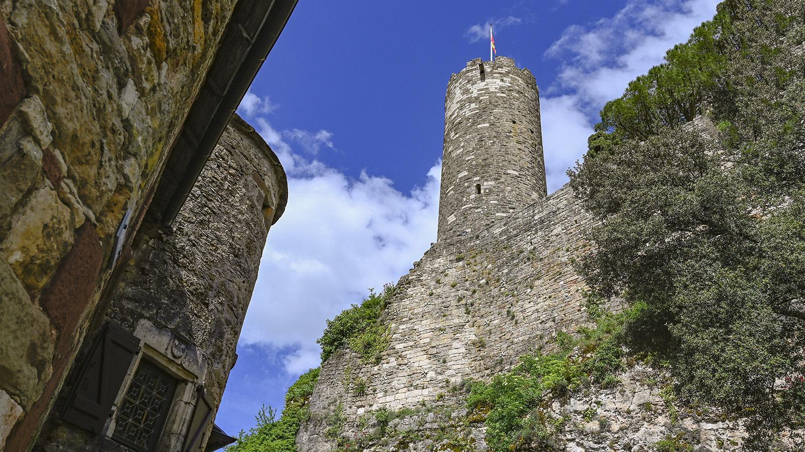 Der Bergfried der Burg. Foto: Hilke Maunder