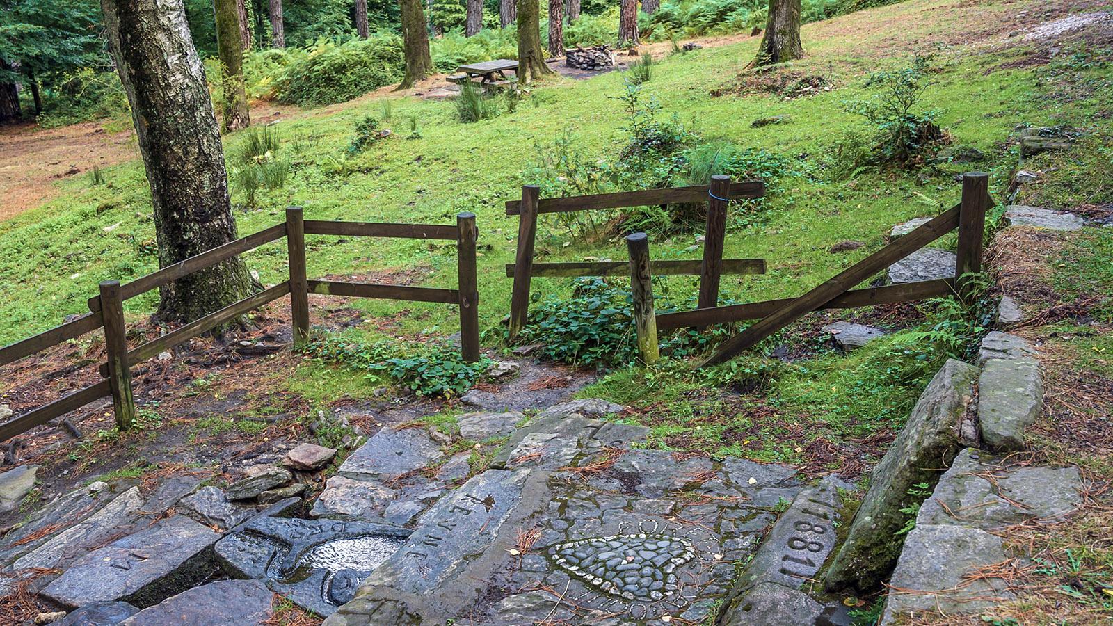 Die Brunnenquelle mit den Picknicktischen. Foto: Hilke Maunder