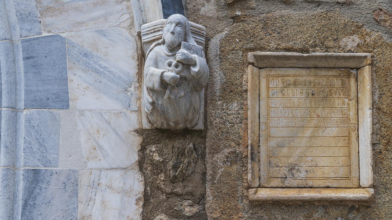 etail der Pfarrkirche von Laroque-des-Albères. Foto: Hilke Maunder