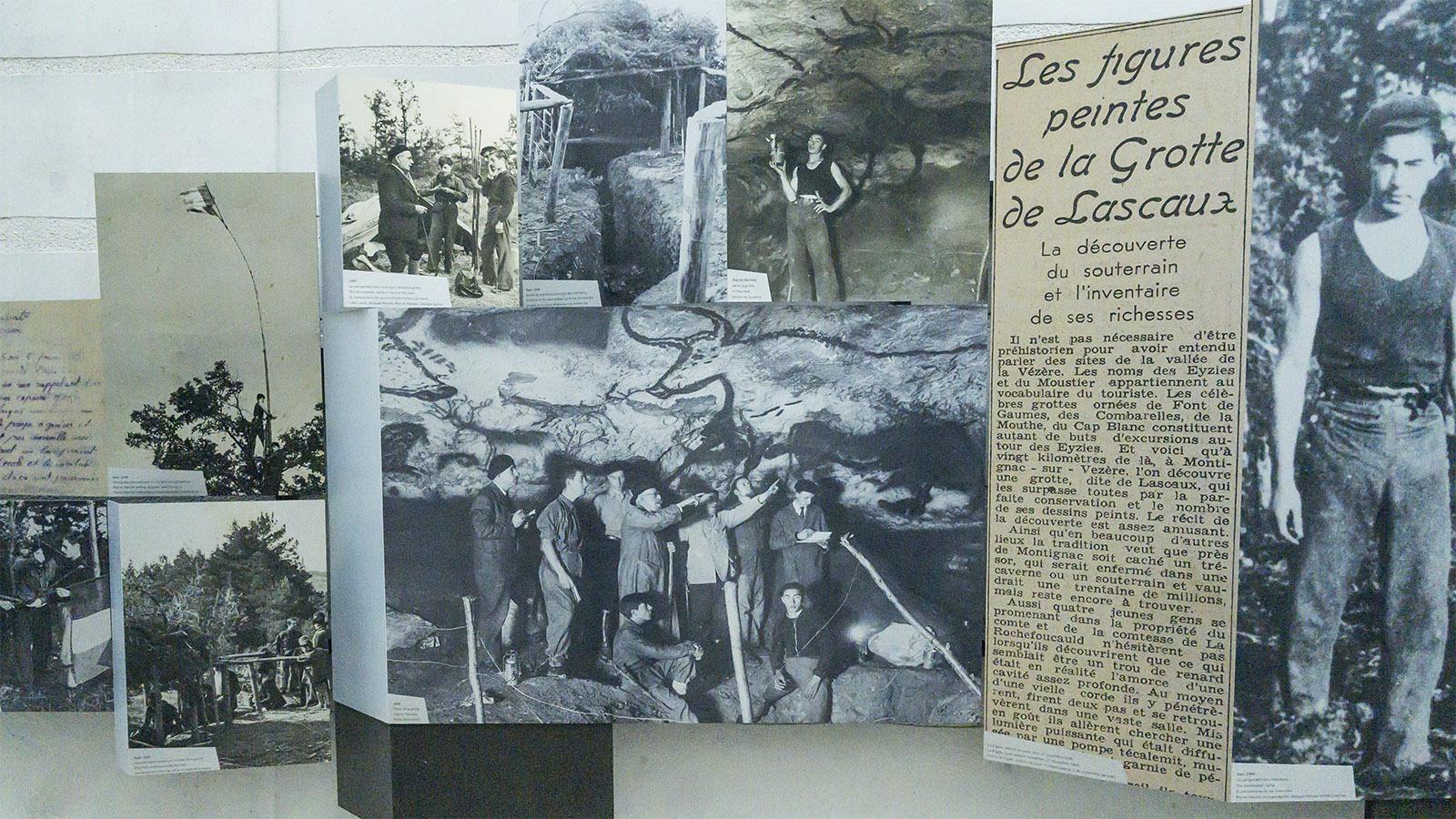 Eine Schauwand im Museum erzählt von der Entdeckung der Höhle. Foto: Hilke Maunder