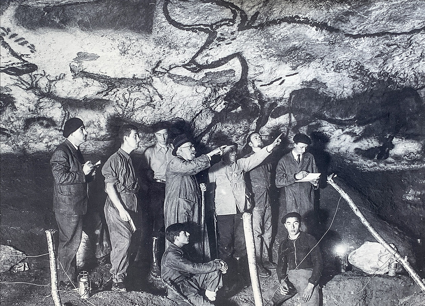 Die ersten Erforscher der Höhle. Copyright: Lascaux IV