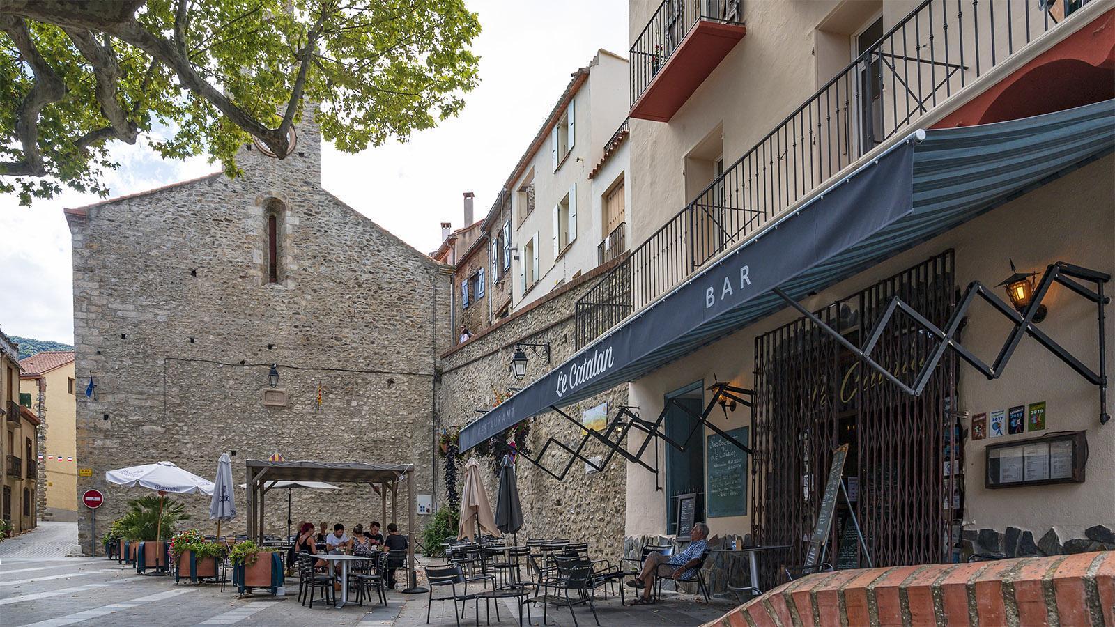 Die <em>Place de la République</em> mit dem Restaurant <em>Le Catalan</em>. Foto: Hilke Maunder
