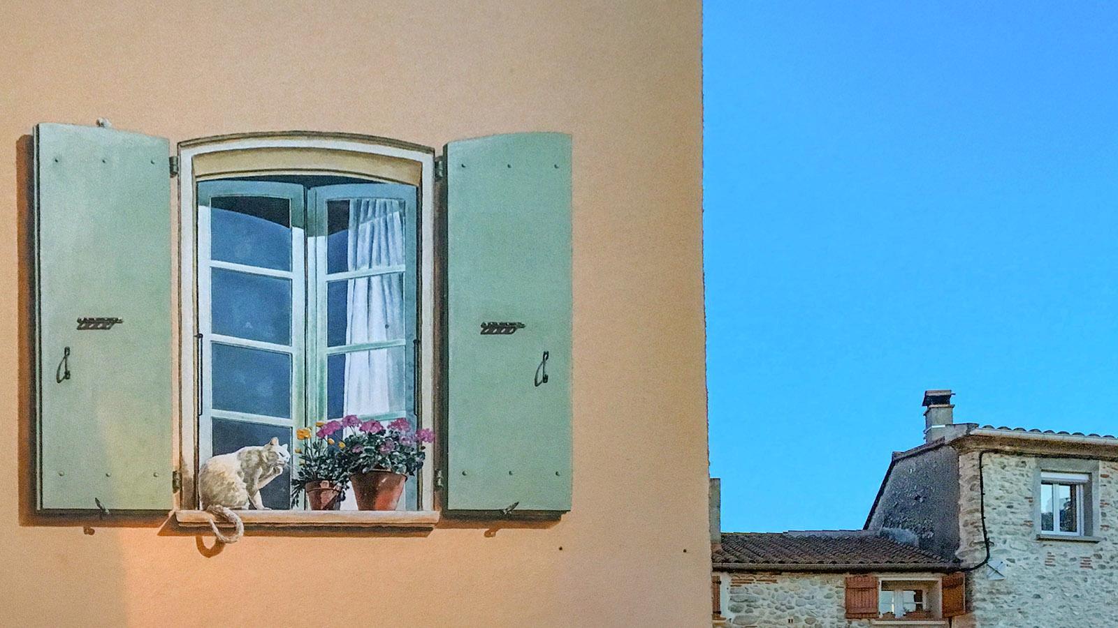 Ein Wandbild im Zentrum von Le Boulou. Foto: Hilke Maunder
