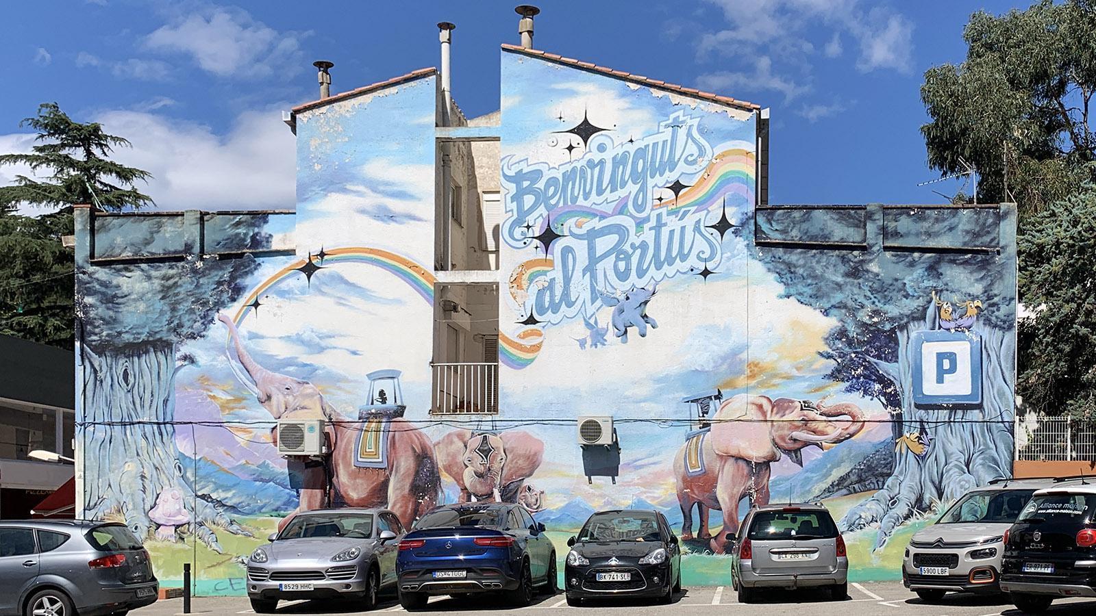 Wandbild im <em>Quartier Espagnol</em> von Le Perthus. Foto: Hilke Maunder