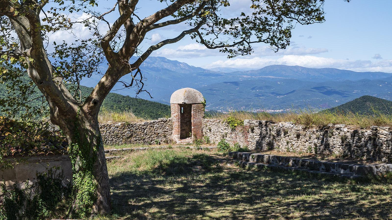 Ein Wächterposten im <em>Fort de Bellegarde</em>. Foto: Hilke Maunder