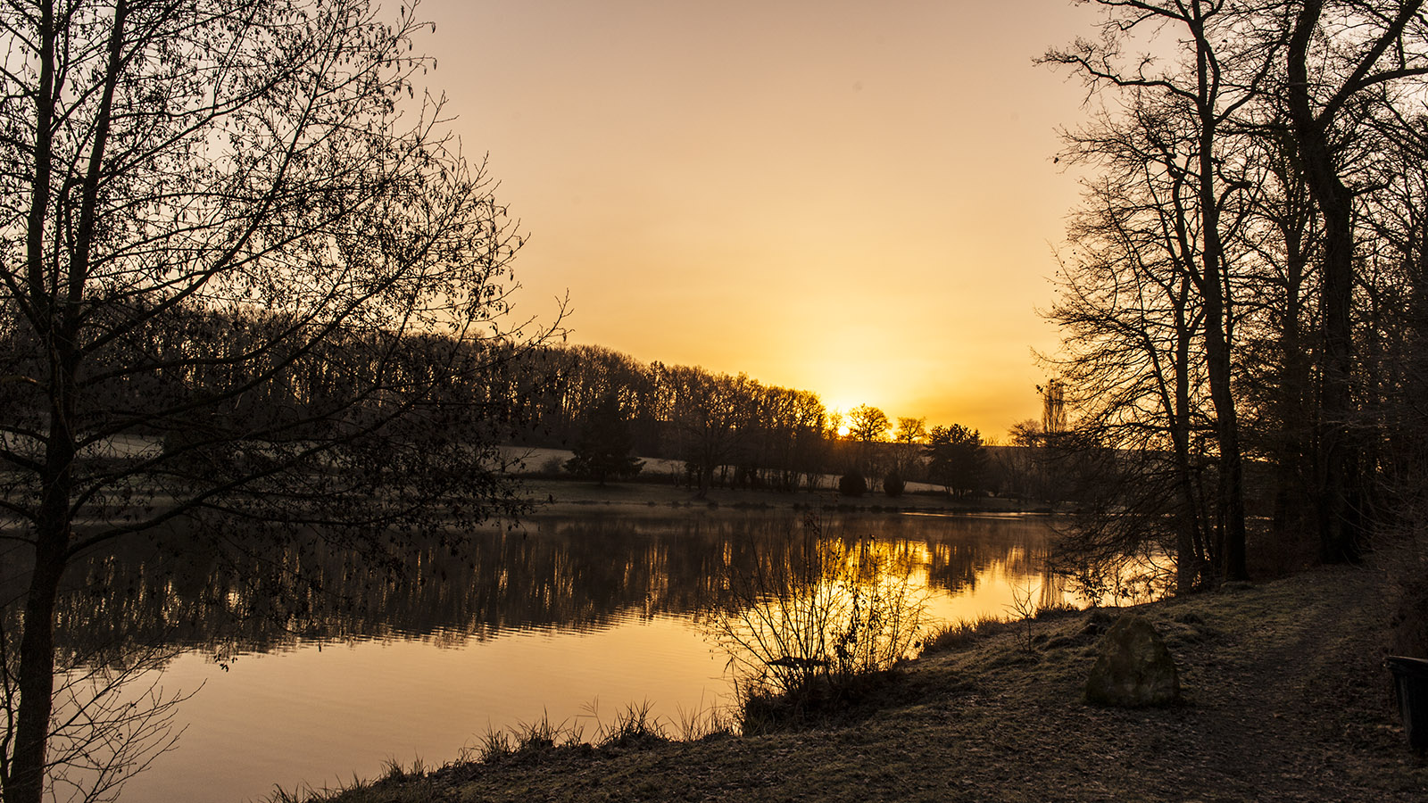 Unterwegs im Berry. La Loubière in Saulzais-le-Potier bei Sonnenaufgang. Foto: Hilke Maunder