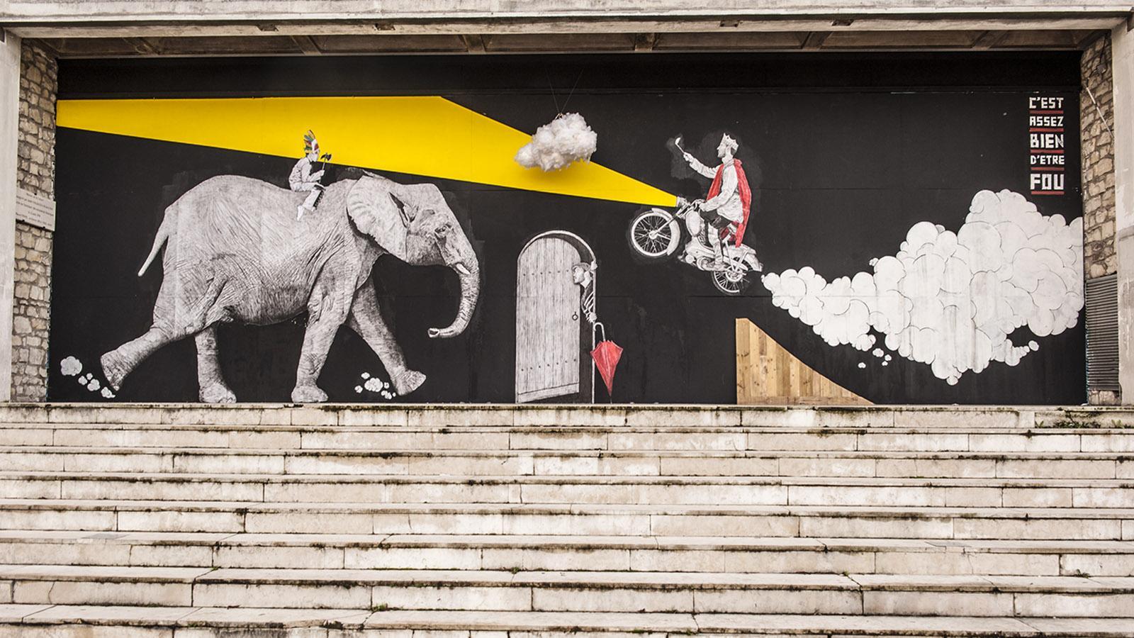 Street Art des Berry – La mur in Bourges. Foto: Hilke Maunder