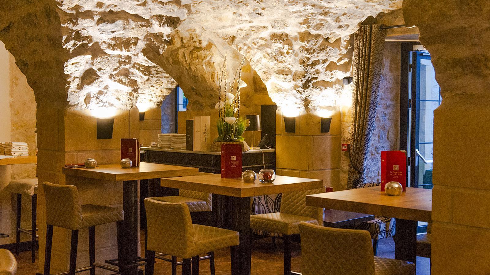 Domaine de la Klauss: Die Café-Bar der Domaine de la Klauss. Foto: Hilke Maunder