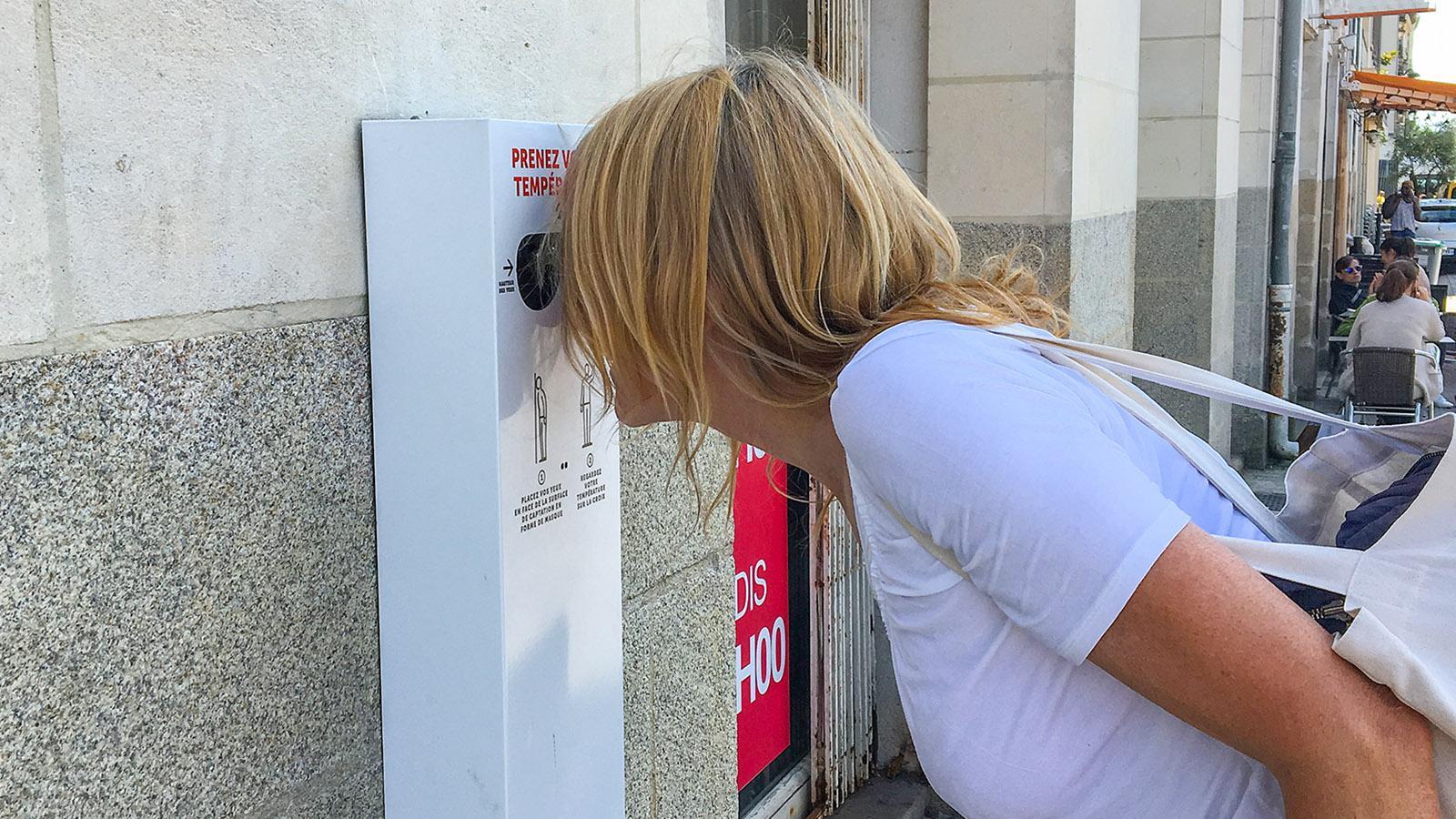 Voyage à Nantes: Pharmacie-Projekt Temperaturmessung. Foto: Hilke Maunder