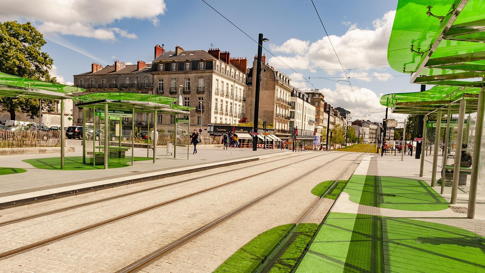 Nantes war die erste Stadt, die wieder eine Straßenbahn einsetzte. Foto: Hilke Maunder