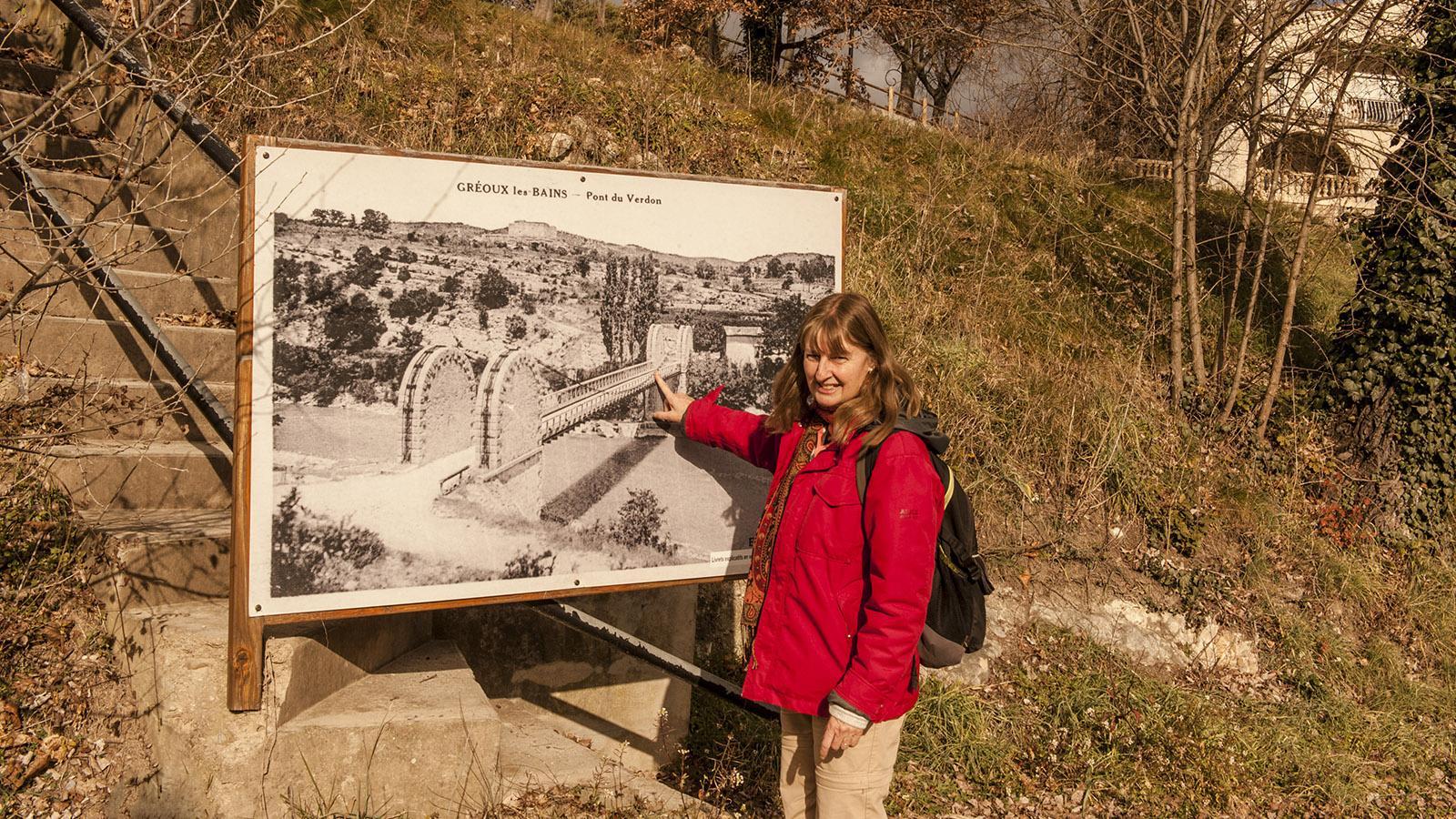 Gréoux-les-Bains: Stadtführerin Isabell Murach kann euch viel über den Verdon erzählen. Foto: Hilke Maunder