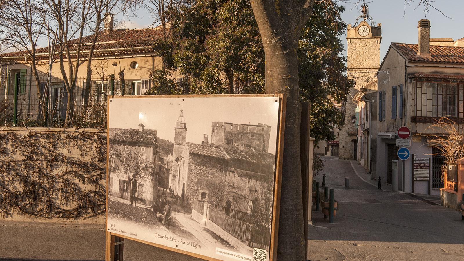 Zeitreise ins 19. Jahrhundert: die nostalgischen Fotos verraten, wie einst in Gréoux das Leben verlief. Foto: Hilke Maunder