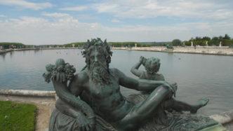 F/Île de France/Versailles: Schloss Versailles, Barockgarten mit Brunnen
