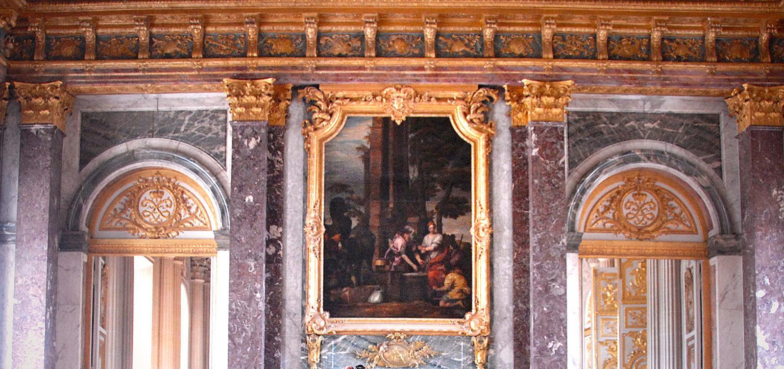 Schloss Versailles: der Marmor - nicht aus Stein, sondern gemalt. Foto: Hilke Maunder