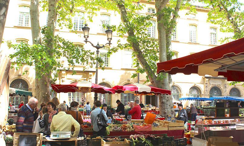 Antje Seele: Wochenmarkt in Frankreich