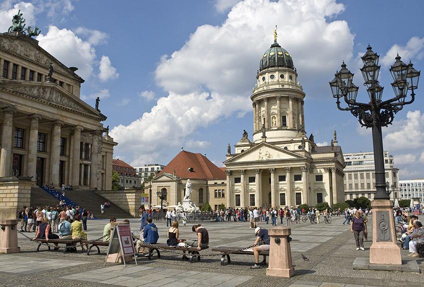 Französischer Dom und Konzerthaus auf dem Gendarmenmarkt