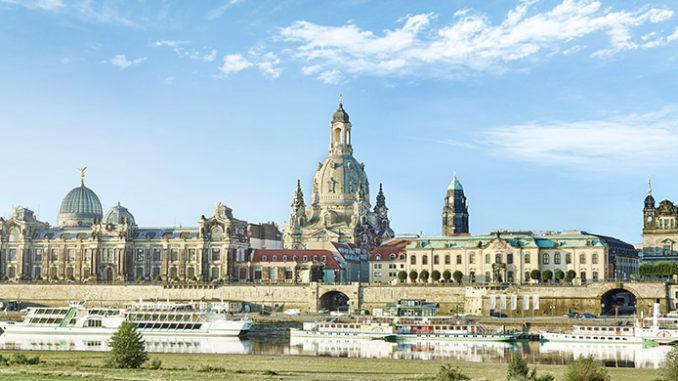 Blick auf Dresden mit den Brühlschen Terrassen. Foto: DML/Jan-Gutzeit