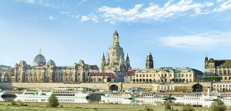 Blick auf Dresden mit den Brühlschen Terrassen