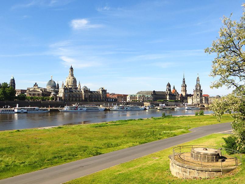 Die Elbsilhouette von Dresden