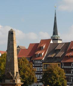 D/Thüringen/Erfurt: Domplatz, Blick Altstadt