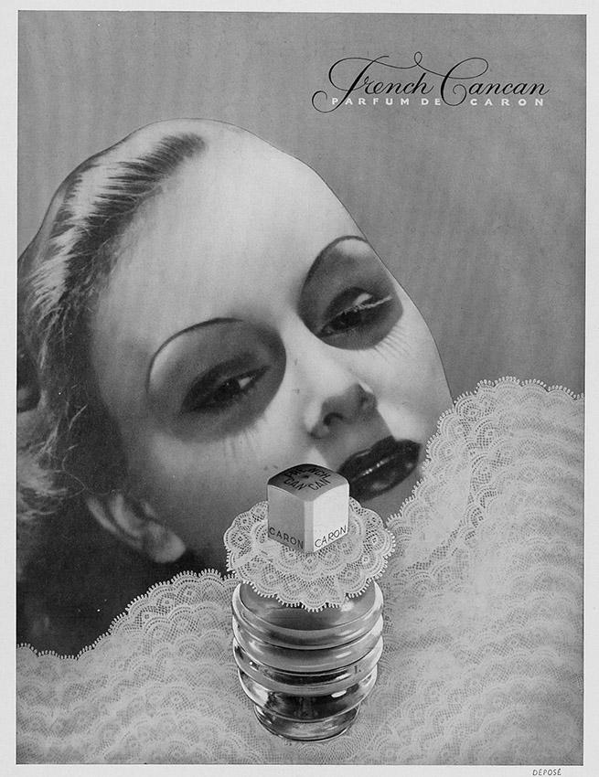 Art Déco Anzeige für French Cancan