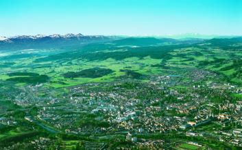 Panorama von Kempten im Allgäu