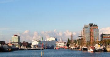 Blick über die Hörn von Kiel