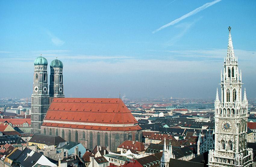 München: Frauenkirche und Rathaus