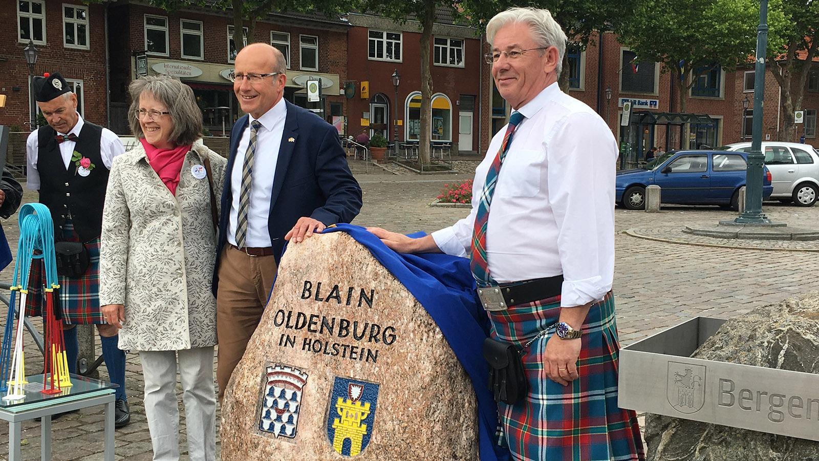 Blain - Oldenburg: der Partnerschaftsstein