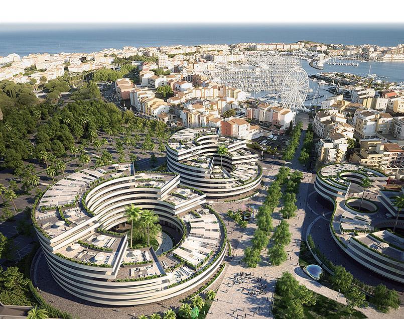 Der geplante Iconic-Komplex von Cap d'Agde