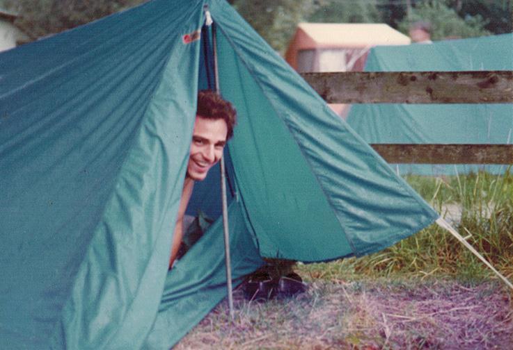 Camping 1984. Foto: Hilke Maunder