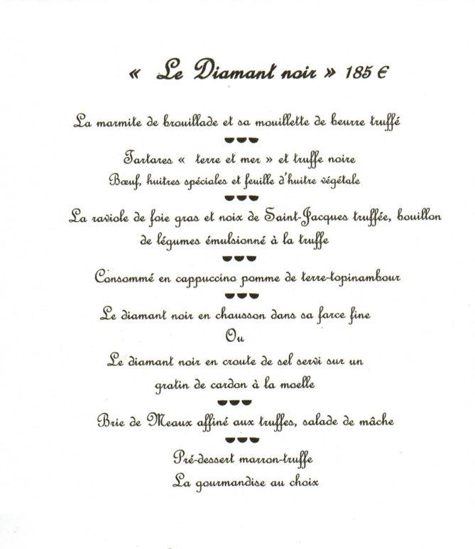 F_Drôme_Bruno Chartron_Trüffelmenü Diamant Noir