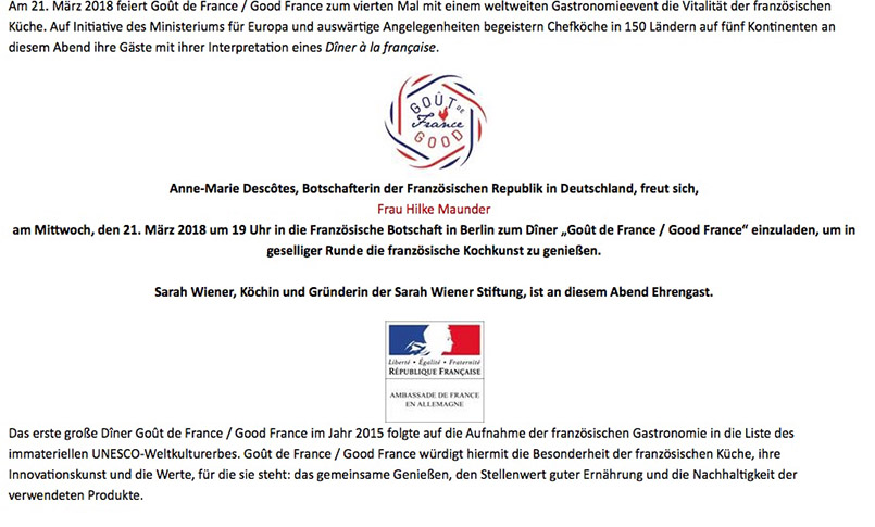 Goût de France 2018 in Berlin