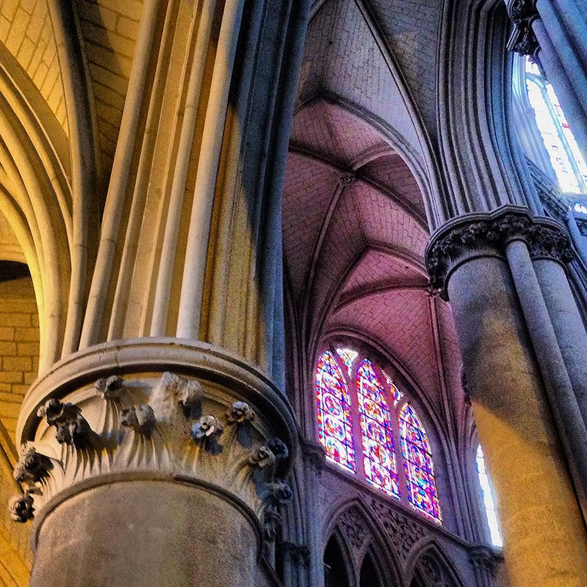 In der Kathedrale von Le Mans. Foto: Hilke Maunder
