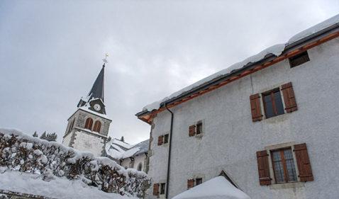 F_Les Gets_Ortszentrum_Kirche_©Hilke Maunder