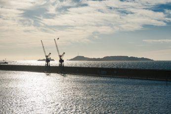 F_Marseille_Terrasses du Port_Blick Hafen-Meer_Inseln_©Hilke Maunder