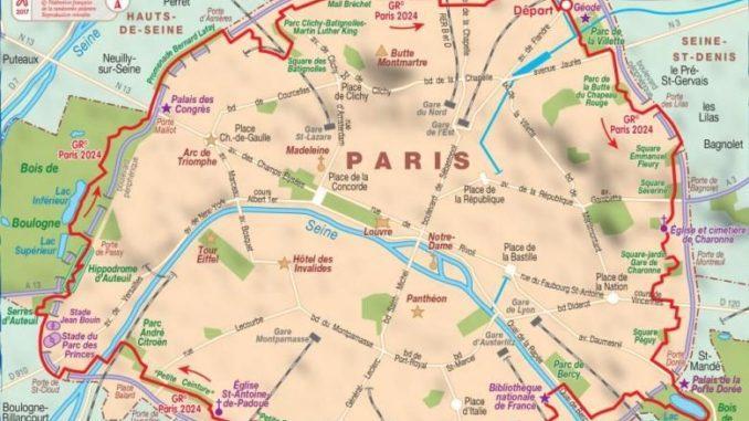 Der Fernwanderweg GR 2014 in Paris