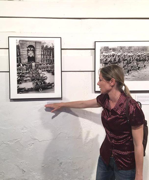 Ausstellung zur Retirada in Perpignan. Foto: Hilke Maunder