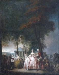 F_Perpignan_Musee Hyacinthe Rigaud_Gabriel ST AUBIN_Promenade à Longchamp
