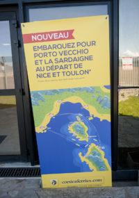 F_Porto-Vecchio_Corsica Ferries_Aufsteller_©Hilke Maunder